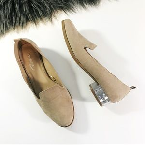 Shoes - Bedazzled Neutral Loafers